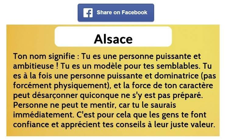 Alsace signification